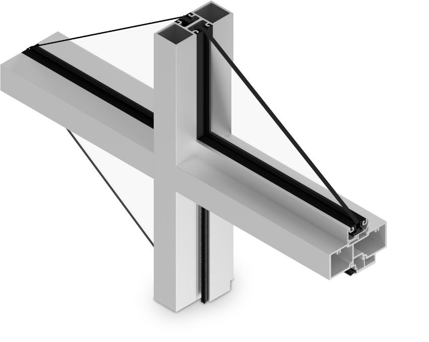 E-4500 Cross Aluminum Storefront