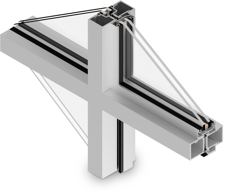 T-14000 Cross Aluminum Storefront