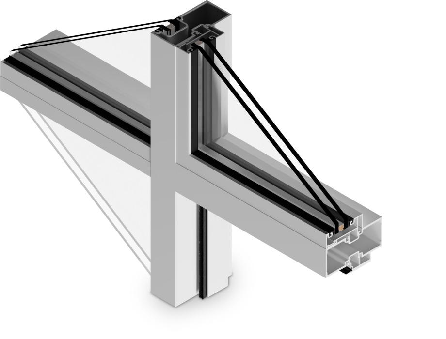 T-14000-IO Cross Aluminum Storefront