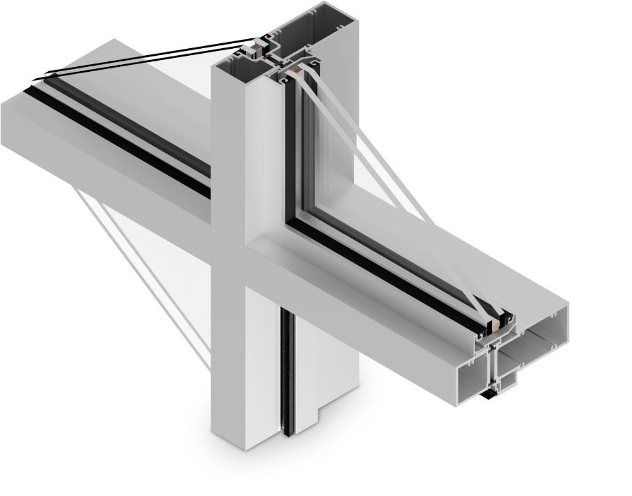 T-14650 Cross Aluminum Storefront