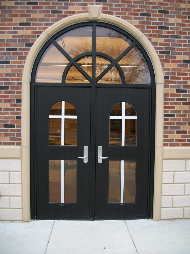 Heavy Duty Cross Aluminum FL-400 Flush Door Entrance